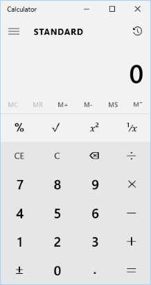Windows 10 Calculator